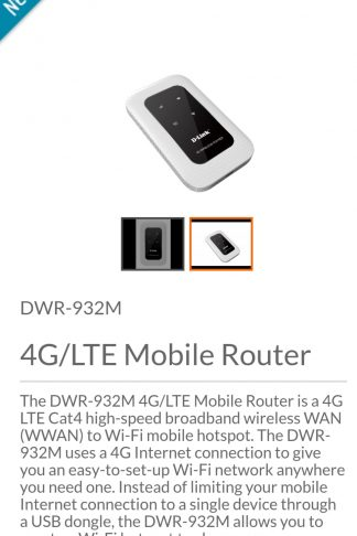 D-Link Mobile Router 4G LTE - DWR-932M