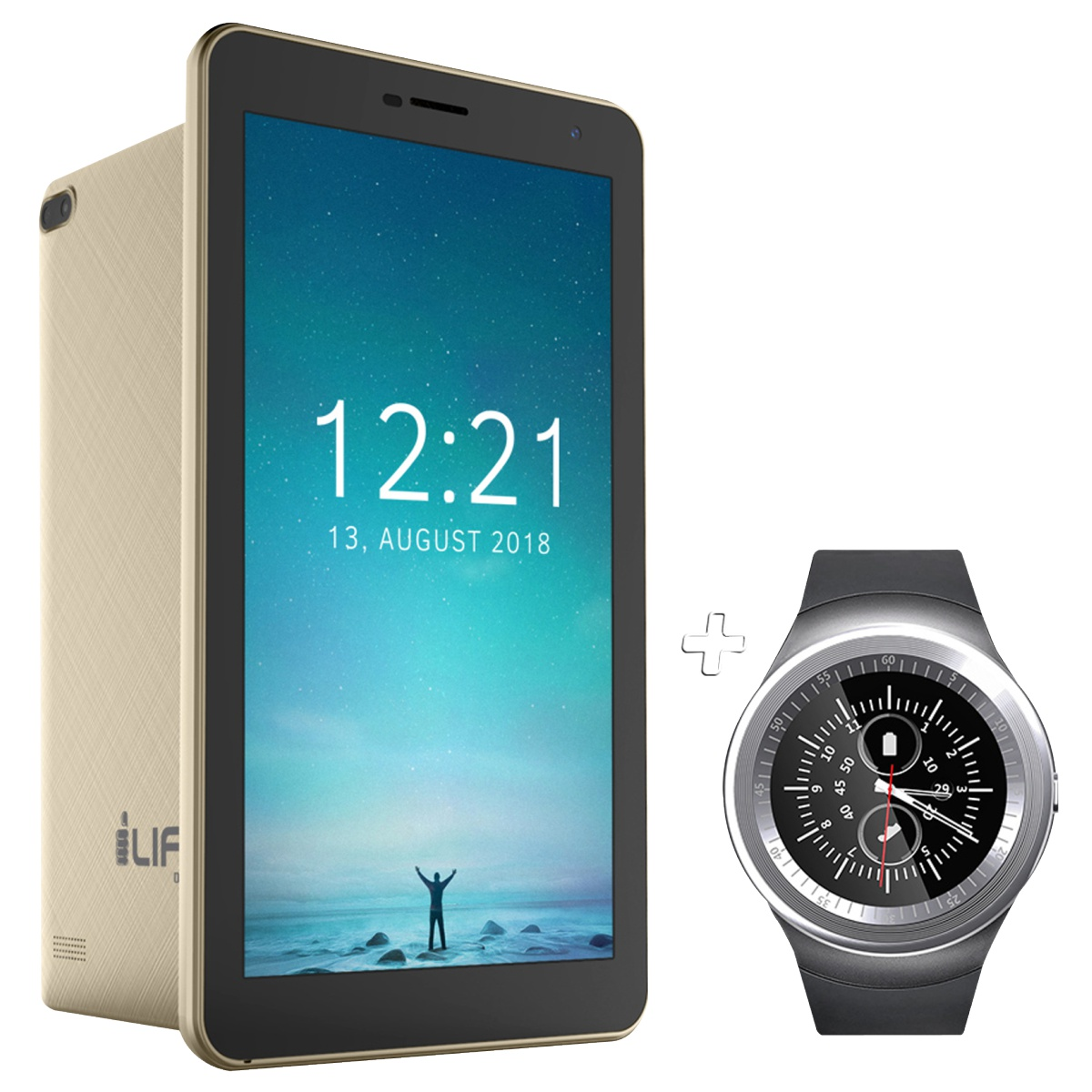 1-Life Gold Tablet + Watch Combo